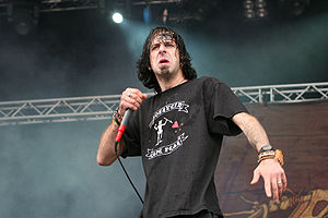 Randy Blythe, Lamb of God, at With Full Force 2007